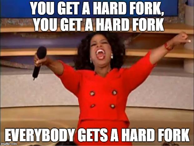 Oprah hard fork giveaway